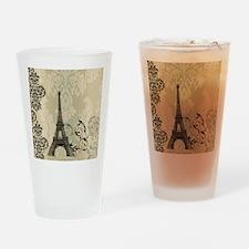shabby chic swirls eiffel tower par Drinking Glass
