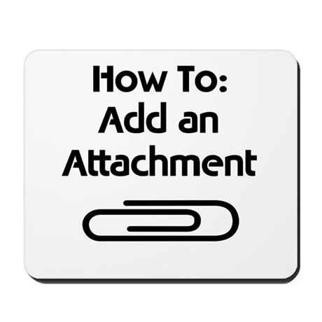 Attachment Paperclip Mousepad