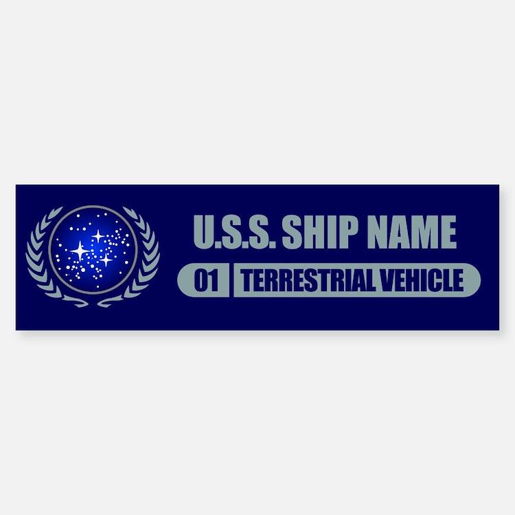 Star Trek Ship Personalized Bumper Bumper Bumper Sticker