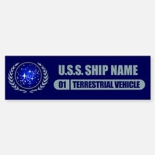 Star Trek Ship Personalized Bumper Bumper Stickers