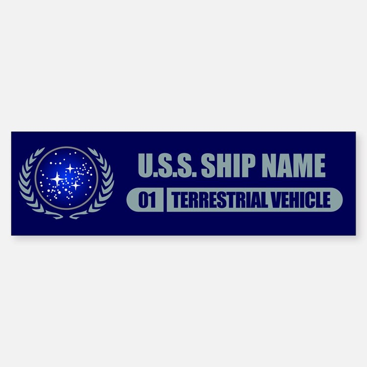 Star Trek Ship Personalized Bumper Car Car Sticker