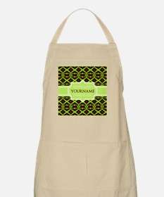 Neon Green Trellis Personalized Apron