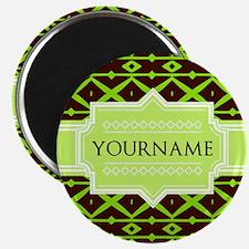 Neon Green Trellis Personalized Magnet
