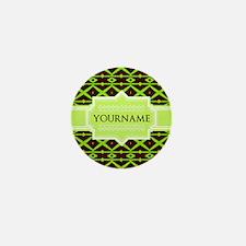 Neon Green Trellis Personalized Mini Button