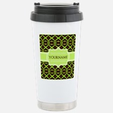 Neon Green Trellis Pers Stainless Steel Travel Mug