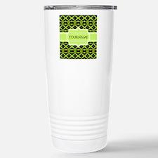 Neon Green Trellis Pers Thermos Mug