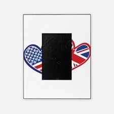 USA and UK Flag Hearts Picture Frame