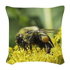 Bee with Pollen sacs Woven Throw Pillow