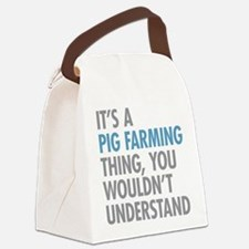 Pig Farming Thing Canvas Lunch Bag