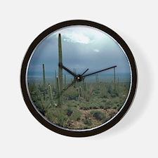 Arizona Desert and Cactuses Wall Clock