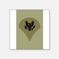 "Cute Military ranks Square Sticker 3"" x 3"""
