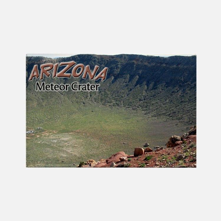 Arizona Meteor Crater Rectangle Magnet