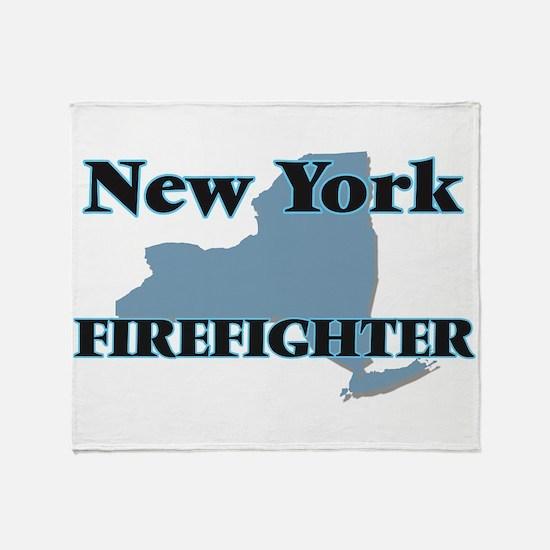 New York Firefighter Throw Blanket