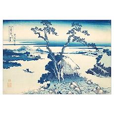 Katsushida Hokusai Blue  Poster