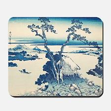 Katsushida Hokusai Blue  Mousepad