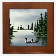 Loon Art Framed Tile