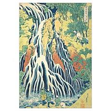 Katsushida hokusai waterfall1 Poster