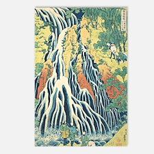 Katsushida hokusai waterf Postcards (Package of 8)