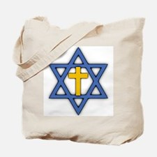Star of David with Cross Tote Bag