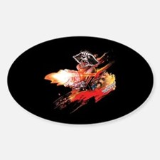 GOTG Rocket Slash Sticker (Oval)