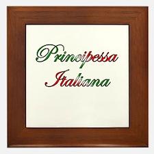 Principessa Italiana (Italian Princess) Framed Til