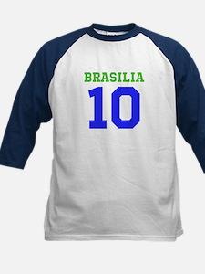 BRASILIA #10 Kids Baseball Jersey
