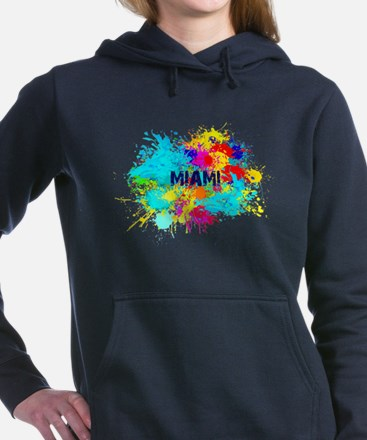 MIAMI BURST Women's Hooded Sweatshirt