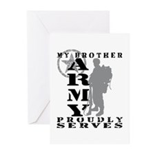 Brother Proudly Serves 2 - ARMY Greeting Cards (Pk