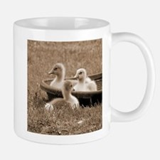 Three little goslings wildlife in the morning Mugs
