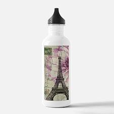 floral vintage paris e Water Bottle