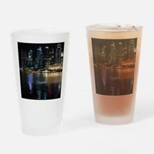 Singapore cityscape Drinking Glass