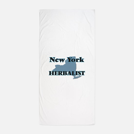 New York Herbalist Beach Towel