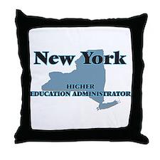 New York Higher Education Administrat Throw Pillow