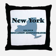New York Higher Education Administrat Throw Pillow