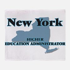 New York Higher Education Administra Throw Blanket