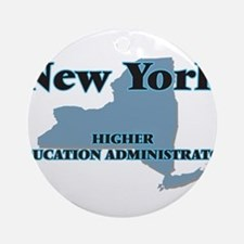 New York Higher Education Administr Round Ornament