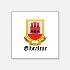 "Cute Gibraltarian map Square Sticker 3"" x 3"""