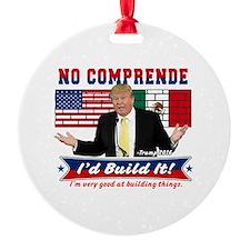 Trump 2016 Mexico US Wall Ornament