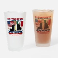 Trump 2016 Mexico US Wall Drinking Glass
