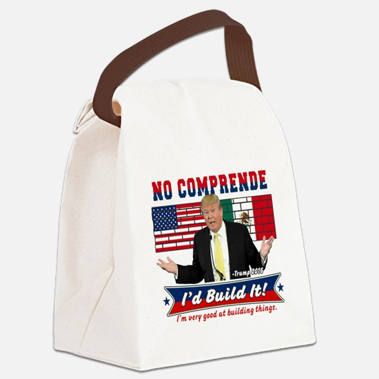 Trump 2016 Mexico US Wall Canvas Lunch Bag