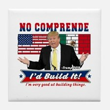 Trump 2016 Mexico US Wall Tile Coaster