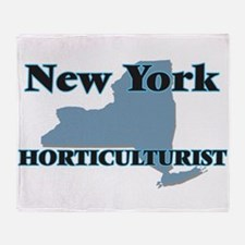 New York Horticulturist Throw Blanket