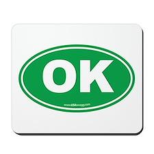 Oklahoma OK Euro Oval Mousepad