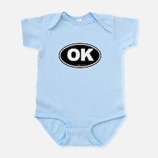 Oklahoma OK Euro Oval Infant Bodysuit