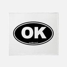 Oklahoma OK Euro Oval Throw Blanket