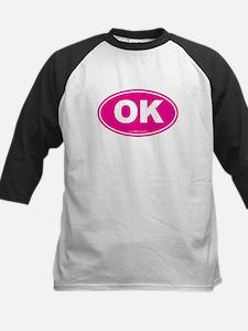 Oklahoma OK Euro Oval Kids Baseball Jersey