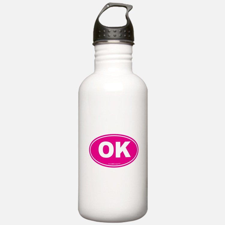 Oklahoma OK Euro Oval Water Bottle