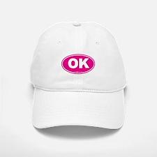 Oklahoma OK Euro Oval Baseball Baseball Cap