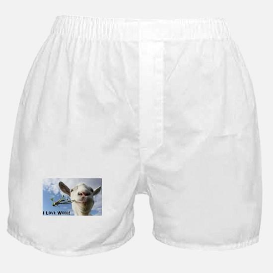 Weed Goat Boxer Shorts