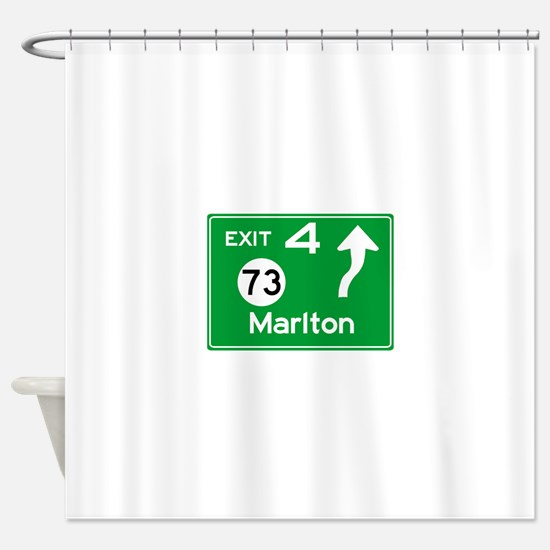 NJTP Logo-free Exit 4 Marlton Shower Curtain
